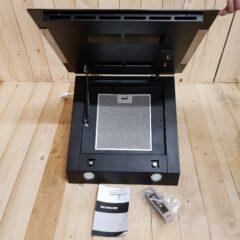 Silverline emhætte SM 3374, Kapacitet 237- 597 m3/t (60 cm) • Lydniveau 47 – 65 dB (60 cm) • Energiklasse A • 3 hastigheder • Easytouch betjening