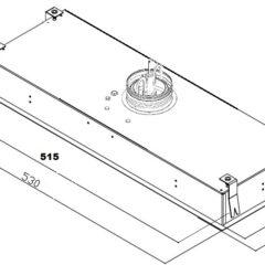 Silverline emhætte SM1176-53HV TORINO 53 Hvid (Demo/Nyt Produkt)