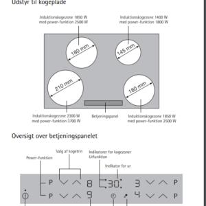 Voss Induktion kogeplade DIK2492-UR *Power Booster